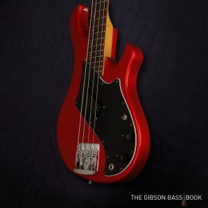 Victory standard, candy apple red, The Gibson Bass Book, Rob van den Broek