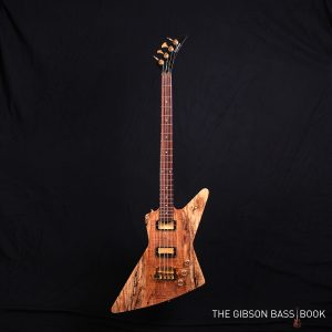 Epiphone explorer, spalted maple top,modified, The Gibson Bass Book