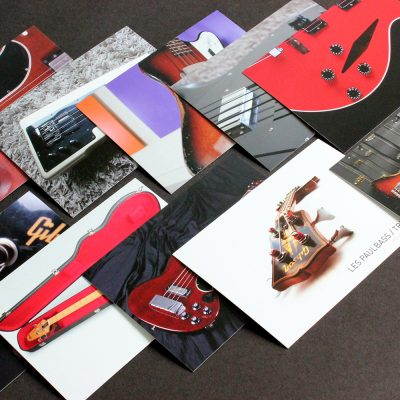 10 special Gibson Bass Book postcards