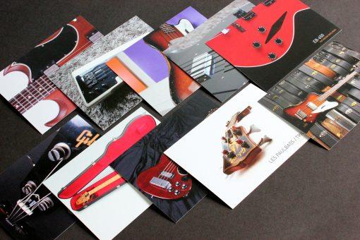 10 special Gibson Bass Book postcards