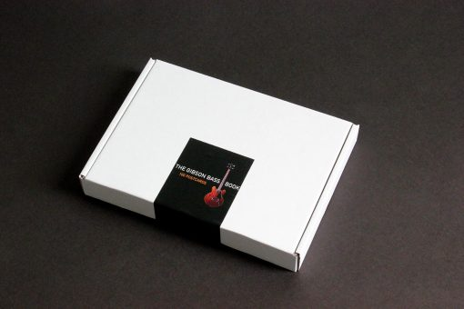 Box with 100 Gibson Bass Book postcards