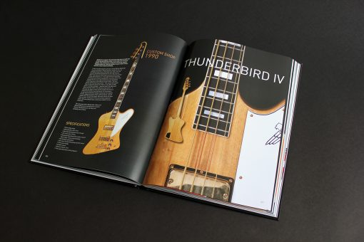 Spread about a Korina Custom Shop Thunderbird in The Gibson Bass Book